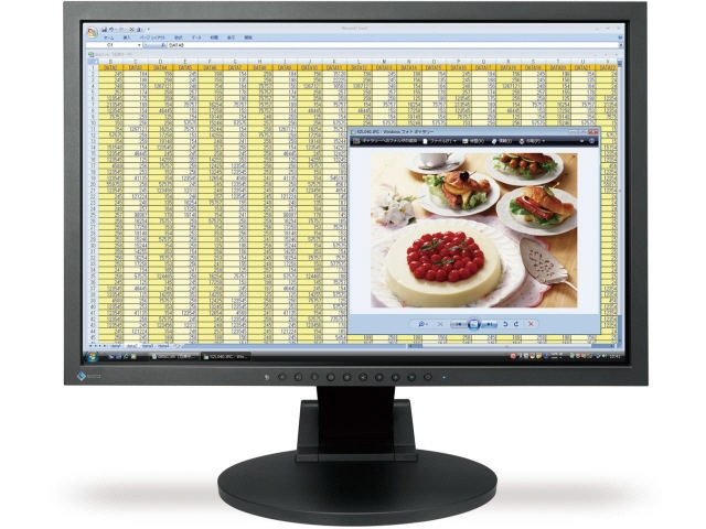 Monitor Eizo; Model: Flexscan S2201w; 22; Wide; Sh; dunga Display