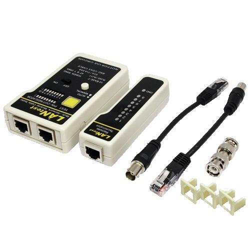 Set Testare Cablu Retea  Rj45 / Rj11 / Rj12  Bnc  Logilink wz0015