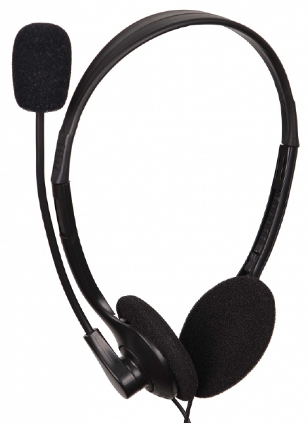 Casti Cu Microfon Clasice  Control Volum  Black Gembird mhs-123