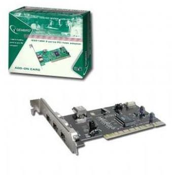 Card Pci Adaptor La 3 Firewire Ieee1394 Gembird Fwp-3pc-r