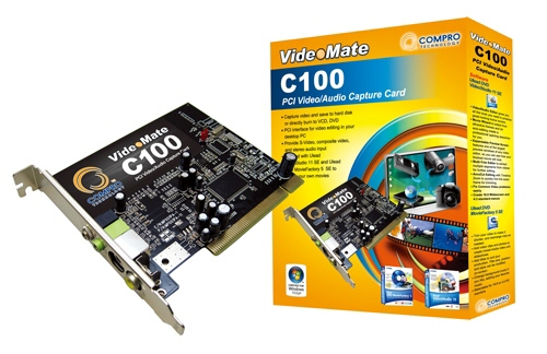 Capture Card Compro Pci c100
