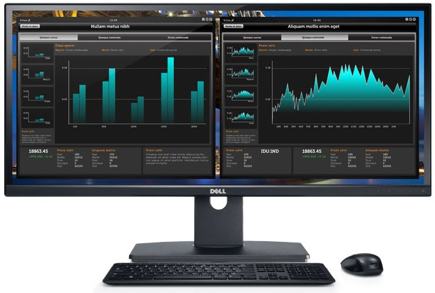 Monitor Dell; Model: Ultrawide U2913wm; 29; Wide; Ref; factory Refurbished