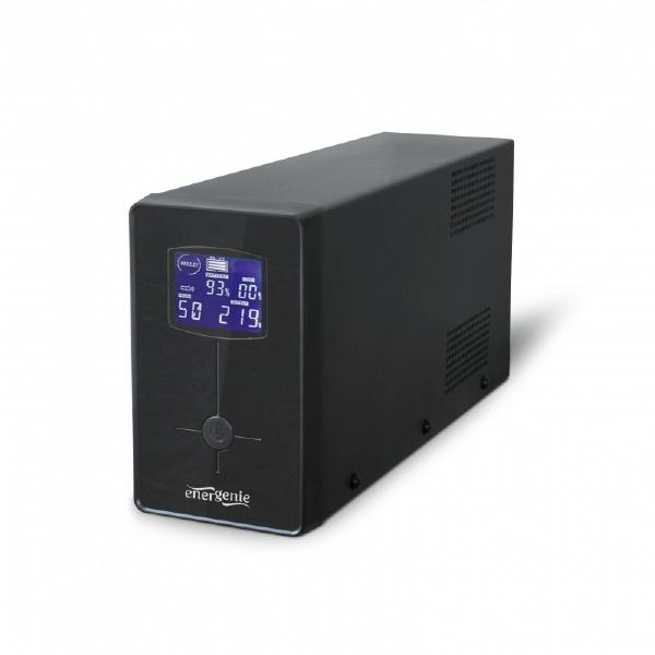 Ups Gembird 650va W. Avr  Display Lcd  Black  eg-u