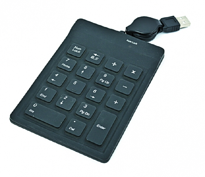Numeric Keypad  18 Taste  Silicon  Black  Gembird  kpd-1f