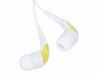 Casti Interne Plastic  Semitransparent  White/yellow  Gembird mp3-ep03