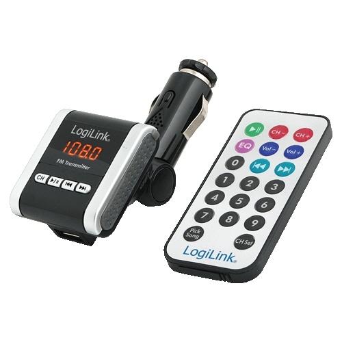 Transmitator Fm  Formate Mp3/mp4/wma (sd-card  Usb  Audio Jack)  Telecomanda  Logilink fm0001a