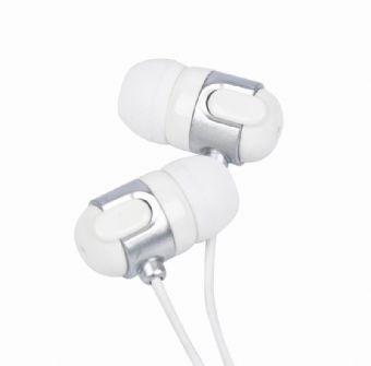 Casti Interne Plastic  White/silver  Gembird mp3-ep02