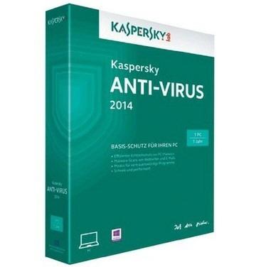 Kaspersky Anti-virus 2014 Retail  1 An Licenta Val