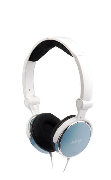 Casti A4tech Design Pliabil  Microfon  Light Blue