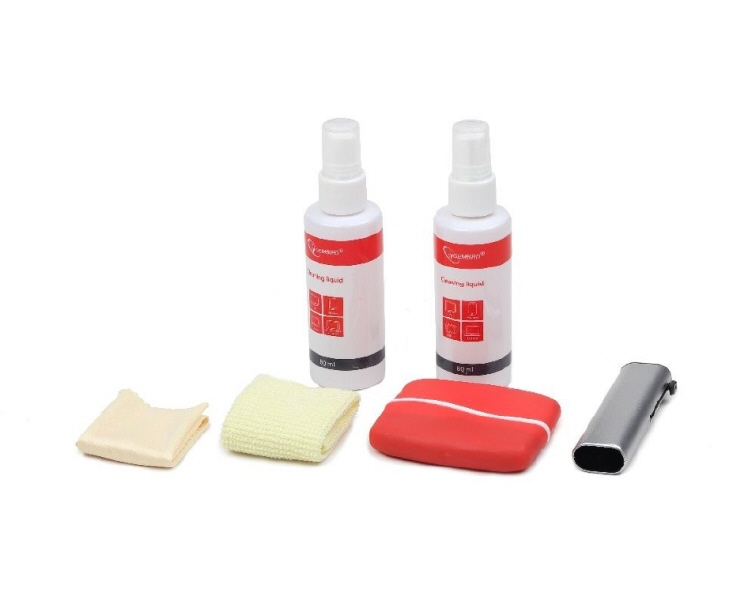 Kit Curatare Lcd 6-in-1 2 Solutii Curatare  2 Pensule  2 Servetel Microfibra  Gembird ck-lcd-003