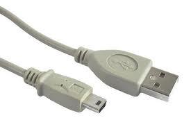 Cablu Pc; Usb 2.0 A M La Mini-usb M; 1.8m.