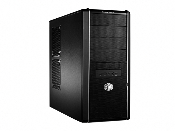 Carcasa Cooler Master Elite. 334u  Mid-tower  Atx  1* 120mm Fan (inclus)  I/o Panel  Black rc-334u-kkn1