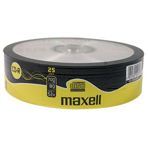 Blank Cd-r Maxell; 700mb; 52x; Bulk 25pack