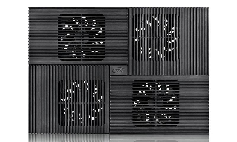 Stand Notebook Deepcool 17 4* Fan 100mm  2* Usb  Plastic & Aluminiu  Black  4* Setari multi Core X8