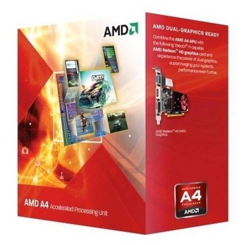 Cpu Amd Skt Fm2 A4 X2 4020 3.20/3.40ghz  1mb Cache  65w  Box ad4020okhlbox