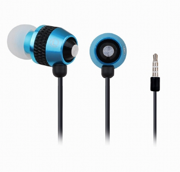 Casti Interne Cu Microfon Metal  Blue  Gembird mhs-ep-002