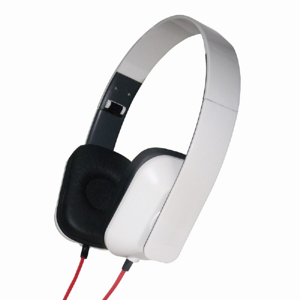 Casti Pliabile  Glossy-white  Gembird mhp-fco-gw