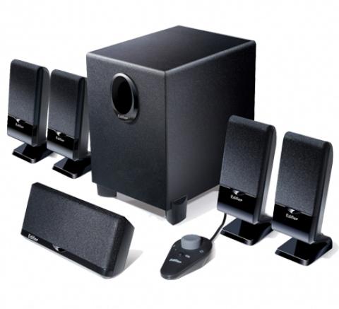 Boxe 5.1  Rms: 26w (3wx4 + 4w + 10w)  Black  Telec