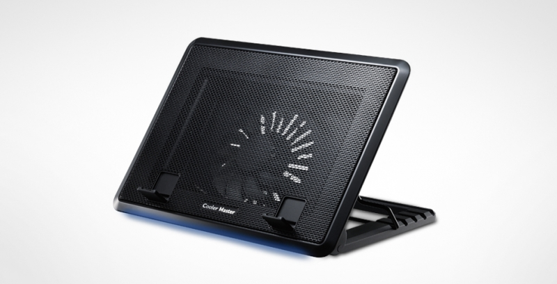 Stand Notebook Cooler Master 17. Notepal Ergostand Ii  1* Fan 140mm  4* Usb  Plastic & Aluminiu  Black r9-nbs-e22k-gp