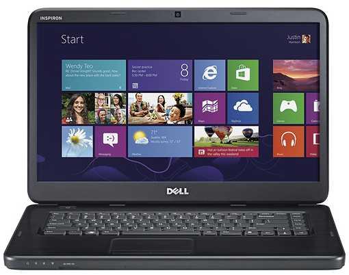 Laptop Dell Inspiron 15  Intel Celeron B820 1.7 Ghz  2gb Ddr3  320gb Hd  15.6 Hd  Dvd-rw  Intel Hd Graphics 4400  802.11a/b/g/n + Bt  Cam+mic  Windows 8 64-bit