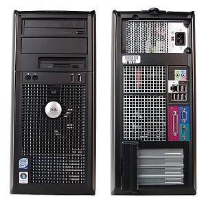 Dell, OPTIPLEX 360, Intel Core 2 Duo E7500, 2.93 GHz, video: Intel GMA 3100; TOWER