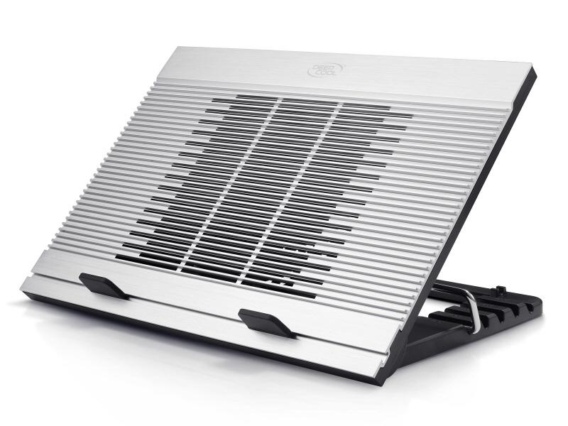 Stand Notebook Deepcool 17 1* Fan 180mm  4* Usb  Plastic & Aluminiu  Silver  Control Turatie  Design Anti-alunecare n9