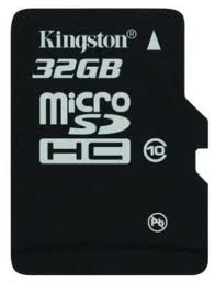 Micro Sd Card Kingston; Model: Sdc10/32gb; Capacit