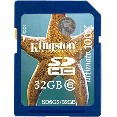 Sd-hc Card Kingstone; Model: Sd6g2/32gb; Capacitate: 32 Gb; Clasa: 6; Culoare: Negru