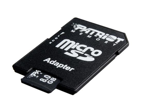 Micro Sd Card Patriot; Capacitate: 8 Gb; Clasa: 4;