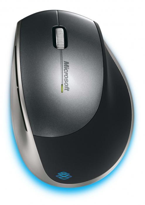 Mouse MICROSOFT; model: EXPLORER; GRI; USB; WIRELESS
