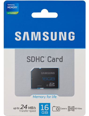 Card De Memorie Samsung Sdhc Pro 16 Gb  Class 6
