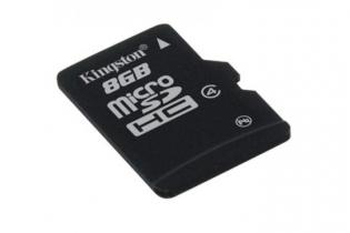 Micro Sd Card Kingston; Model: Sdc4/8gb; Capacitate: 8 Gb; Clasa: 4; Culoare: Negru