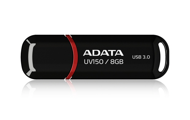 Usb Stick Adata; Model: Auv150-8g-rbk; Capacitate: 8 Gb; Culoare: Negru; Usb 3.0