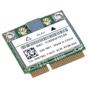 PLACA DE RETEA: DELL DW1501; WIRELESS 72 Mbps; uPCI; REF