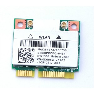 PLACA DE RETEA: DELL DW1502; WIRELESS 150 Mbps; uPCI; REF
