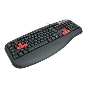 Tastatura A4TECH, G600, taste negre+rosii