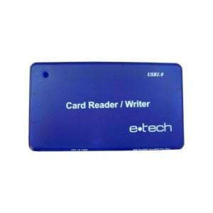 CARD READER/WRITER; USB 2.0 M la SD/MICROSD/MMC; E-TECH; ECR-1M5