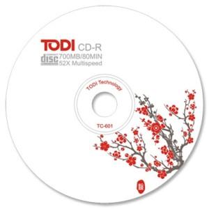 Blank CD-R TODI; 700MB; 52X; bulk
