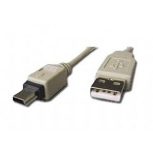 Cablu PC; USB 2.0 A M la mini-USB M; 0.75m; CC-USB2-AM5P-3