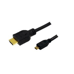 Cablu video; HDMI-A T la micro HDMI-D T; 2m; CH003