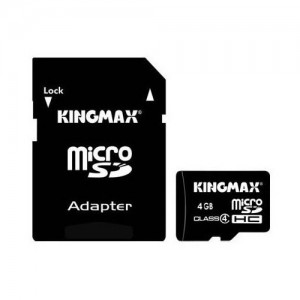 MICRO SD-HC KINGMAX, 4 GB