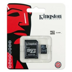 MICRO SD CARD KINGSTON 32 GB; clasa: 4; culoare: NEGRU