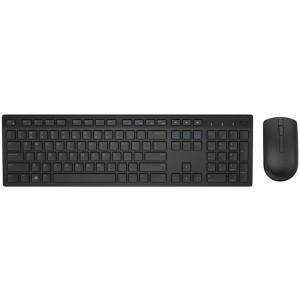 Kit Tastatura + Mouse Dell Wireless, model: KM636, layout: US, negru USB, MULTIMEDIA