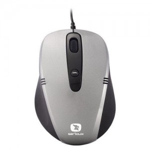 Mouse SERIOUX; model: CRUZER170-GR; USB
