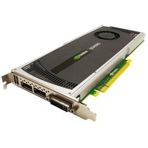 Placa video: NVIDIA QUADRO 4000; 2048 MB DDR5; 256-bit; PCI-E 16X; DVI-D; 2 x DISPLAY PORT;