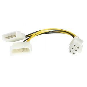 Cablu PC; MOLEX 4 PINI la MOLEX 8 PINI; 0.1m