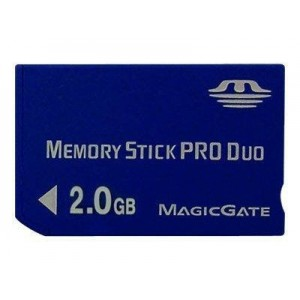 PRO DUO CARD TRANSCEND; model: TS2GMS 2 GB