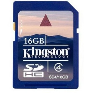 SD-HC CARD KINGSTON; model: SD4/16GB