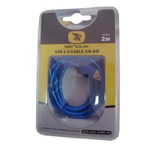 Serioux Cablu PC; USB 2.0 A M la USB 2.0 B M; 3m