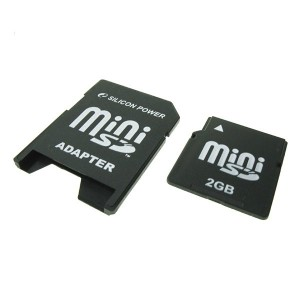 MINI SD CARD SILICON POWER,  2 GB